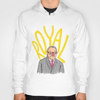 tenenbaum Hoodies featuring Royal Tenenbaum by Ben J Hutch