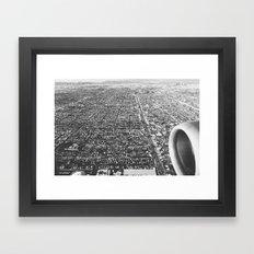 Los Angeles, California (Black & White) Framed Art Print