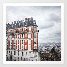 Paris Postcards. Art Print