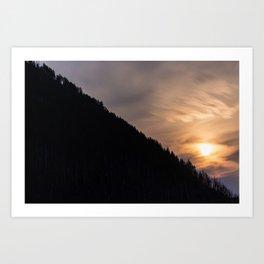 Smokey Moonrise over the Lost Coast Art Print