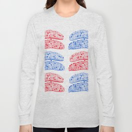 toast drawing, red and blue Long Sleeve T-shirt