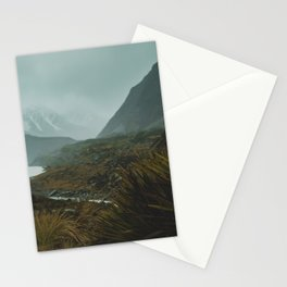Hiking Around the Mountains & Valleys of New Zealand Stationery Cards