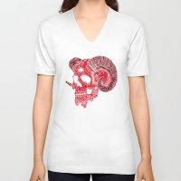 ram V-neck T-shirts featuring Damn Ram by Josh Ln
