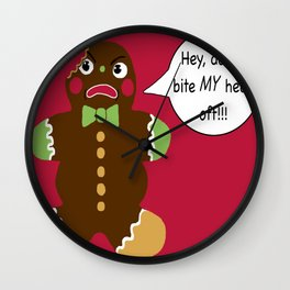 Gingerbread Cookie Angst Wall Clock