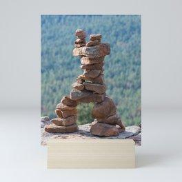 Military Sinkhole Scenic Outlook Rock Figure Mini Art Print