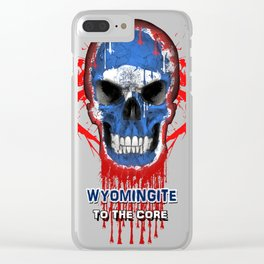 To The Core Collection: Wyoming Clear iPhone Case