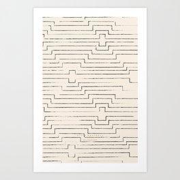 diamond ikat - all Art Print