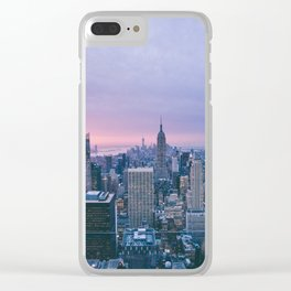 New York 11 Clear iPhone Case