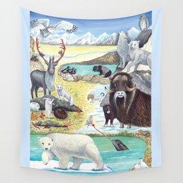 Arctic Tundra Animals Wall Tapestry