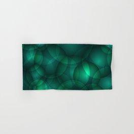 Luminous lead soap circles and volumetric cobalt bubbles of air and water. Hand & Bath Towel