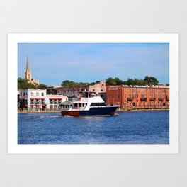 Sightseeing From Boat Art Print