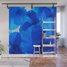 Blue Poppies #decor #society6 #buyart Wall Mural