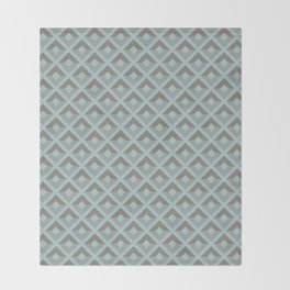 Two-toned square pattern Throw Blanket