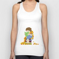 read Tank Tops featuring Read by AlohaMinty