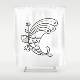 Perfect Balance - Letter C Shower Curtain
