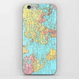 Map of the World iPhone Skin