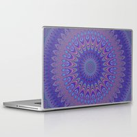 mandala Laptop & iPad Skins featuring Purple mandala by David Zydd
