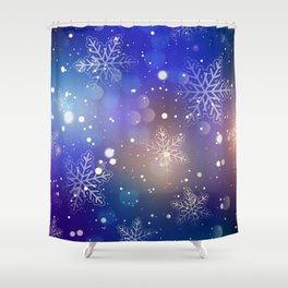 Christmas Shiny Snowflake Background Shower Curtain