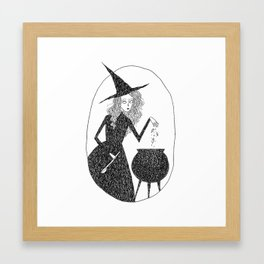 Kitchen Witch Framed Art Print