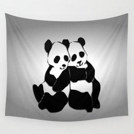 Panda Bears Wall Tapestry