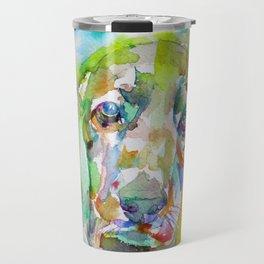 COCKER - watercolor portrait Travel Mug