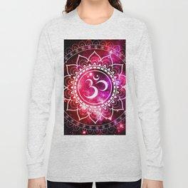 Ohm Mandala : Galaxy Mandala Red Fuchsia Pink Long Sleeve T-shirt