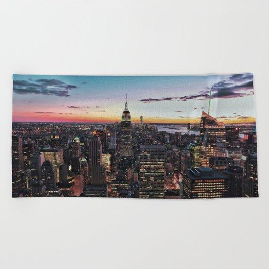 NY CITY Beach Towel