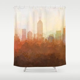 Indianapolis Skyline - In the Clouds Shower Curtain