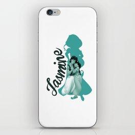 Jasmine Silhouette with Aladdin iPhone Skin