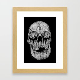 Black blooded Framed Art Print