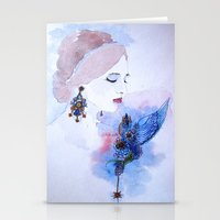 lady Stationery Cards featuring Lady by S.Svetlankova