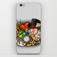 alice wonderland iPhone & iPod Skins featuring Wonderland  by Katie Simpson a.k.a. Redhead-K