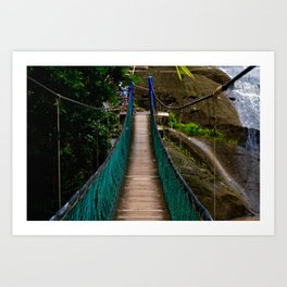 Swinging Bridge -Guam Art Print