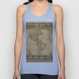 Map Of America 1776 Unisex Tank Top