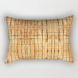 Palest Orange Plaid Rectangular Pillow