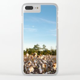 Cotton Field 16 Clear iPhone Case