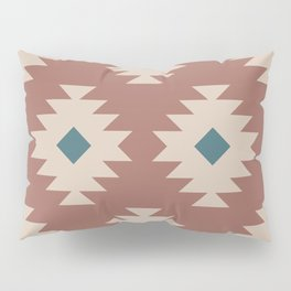 Southwestern Pattern 536 Teal Green and Brown Pillow Sham