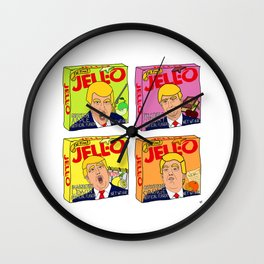 Trump Jell-O Art Wall Clock