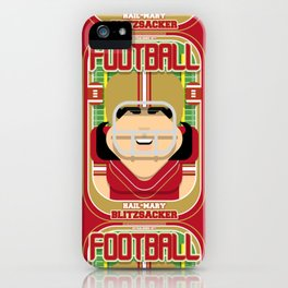 American Football Red and Gold -  Hail-Mary Blitzsacker - Amy version iPhone Case