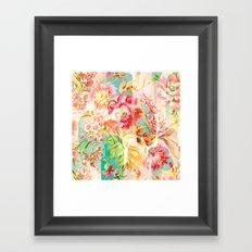 hide and seek floral Framed Art Print
