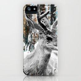 Deer in the Industrial Woods iPhone Case