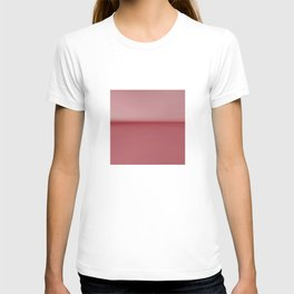 Soft Blush Pink Two Toned Abstract T-shirt
