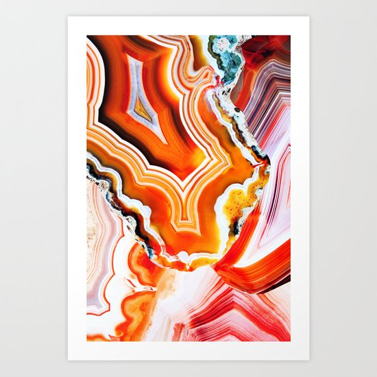 The Vivid Imagination of Nature, Layers of Agate Art Print