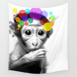 Cute Monkey Wall Tapestry