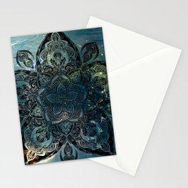 Flower mandala -night Stationery Cards