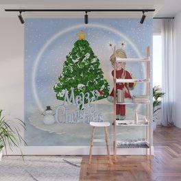 Santa's Littlest Helper Wall Mural