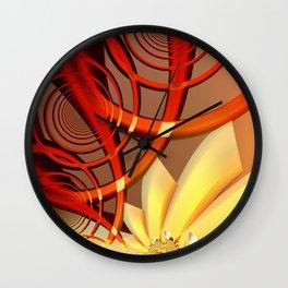 Circling 2 Abstract Fractal Art Wall Clock
