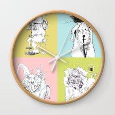 4 Little Animals Wall Clock
