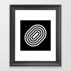 Stripey pill shape Framed Art Print