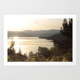 Sunset on Whiskeytown Lake 2 Art Print